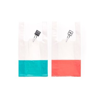 Plastic Bag / Two Tone / Green