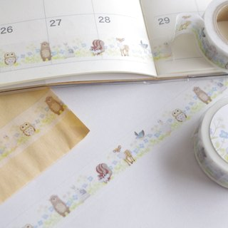 Spring flowers and Chicchi's animals piercing masking tape