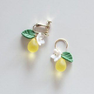 Shaking Lemon Earrings