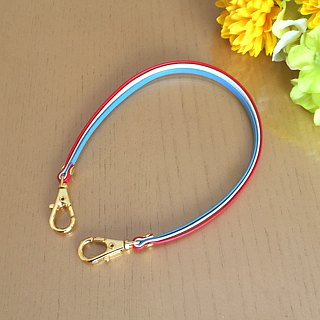 "Three-tone color Leather strap ( Tricolor Color ) ""Clasps : Gold"""