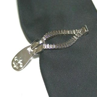 Silver zipper Jewel clip