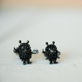 Stinky Earrings - Silver 925 plated with Black
