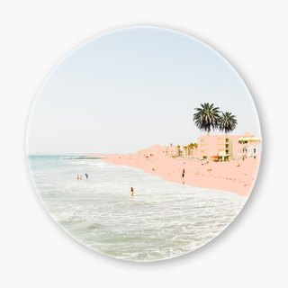 Snupped Ceramic Coaster - 陶瓷杯垫 - Pink Beach
