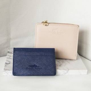 GOODY BAG- 'PEONY' LEATHER SHORT  WALLET AND 'H' LEATHER CARD HOLDER