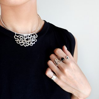 2WAY number choker / silver