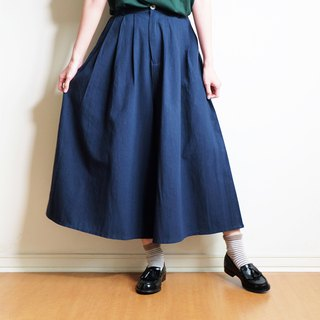 cotton wide pants : navy