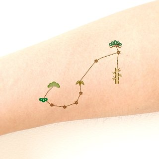 Scorpio The scorpion (October 23 - November 21) Zodiac sticker tattoos. Japanese cute style.