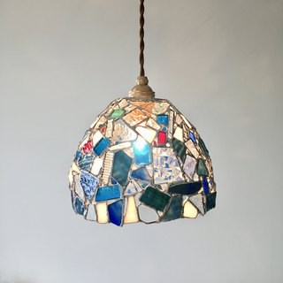 Jewel night Pendant lamp denim blue glass Bay View