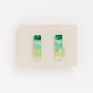 Picture earrings [squares]