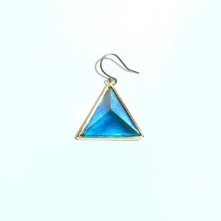PRISM piercing earring for one ear gold,blue