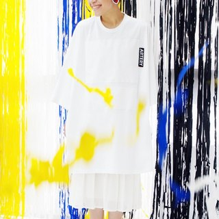 ARTERY OVERSIZED T-SHIRT 白底拼贴白色块