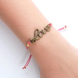 Love red string adjustable bracelet / Waterproof bracelet