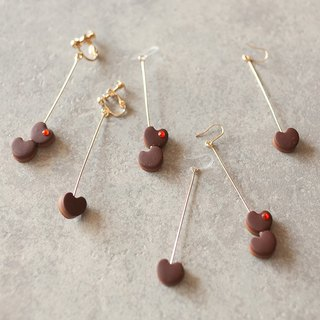 Heart Chocolate Earrings / Earrings