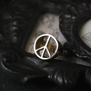 Peace Ring by Defy/Sign Ring/Statement Ring/Golden Sign Ring/Brass Jewelry