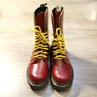 Back to Green:: 12孔樱桃血红Dr.Martens vintage shoes