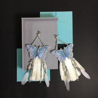 Earrings: butterfly no.2 sky