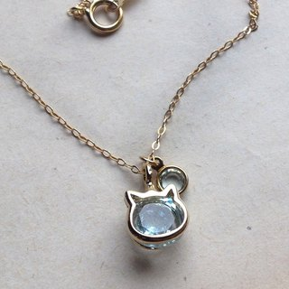 14kgf Jewelry Sky Blue Topaz AAA 2 Carat Necklace