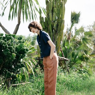 Slim Trousers in Dusted Clay