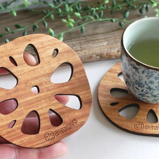 Wood Coaster lotus root (lotus root) Small