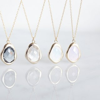 【14KGF】 Necklace, Glossy Color Glass