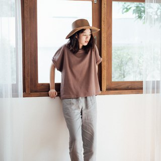 Linen Casual Pants - Dark gray stripe