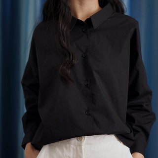 ee18/ Short Loose Black Shirt
