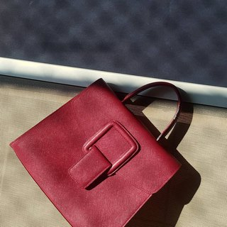 PINCH NO.1 (Wine 26 inches) Classic and Iconic Leather Handbag/Crossbody