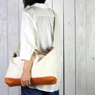 nomad · Generation Kurashiki canvas × leather shoulder bag