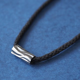 Log Mens Necklace Silver 925