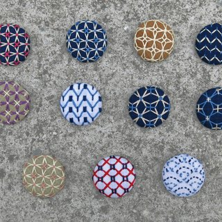Sashiko/ Embroidery Brooch with Chain Necklace