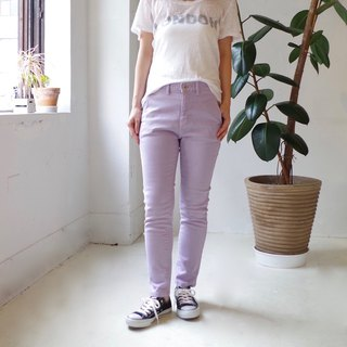 [Made in Japan] Boyfriend stretch denim - lavender