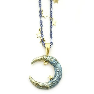 Crescent Moon von brown / necklace NE 318
