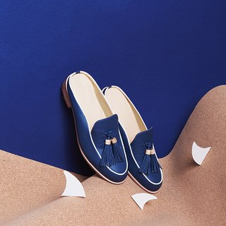 Midnight Blue-Willow - Mule Loafers