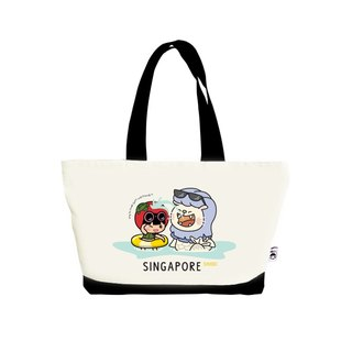 Ang Ku Kueh Girl X Merlion Series: Tote Bag (Splashing) 鱼尾狮戏水单肩包