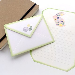 Letter writing set/stitch zoo/Rabbit