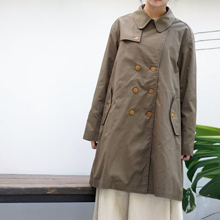 ee18/ Army green double-breasted coat