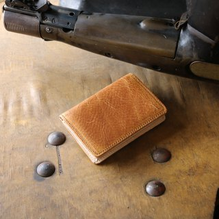 Japan manufactured cowhide name single canned name piece iliary 棕色 made in JAPAN handmade leather card case