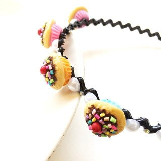 Cupcake hairband black