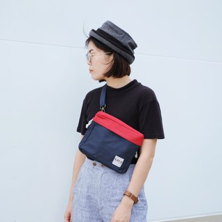PiP BAG ( Traveller Bag ) : Navy x Red