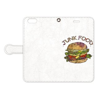 [Notebook type iPhone case] Hamburger