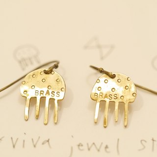 Jellyfish Jellyfish earring material brass