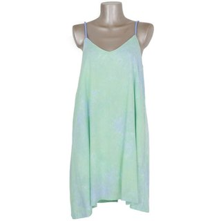 Uneven dyed camisole beach dress <Green Island>