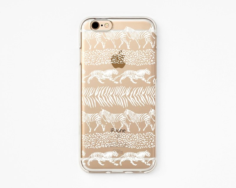 iPhone Case - Be Wild - for iPhones - Clear Flexible Rubber TPU case J38