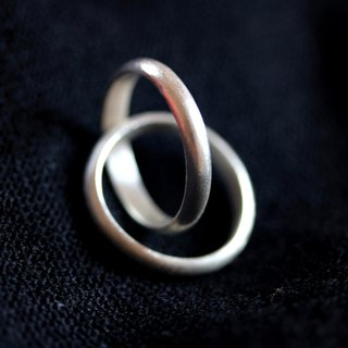 Handmade Double interlocking Rings in 95% Thai silver (R0018)