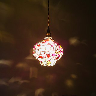 Pendant light Jewelight night dramatic red glass Bay View