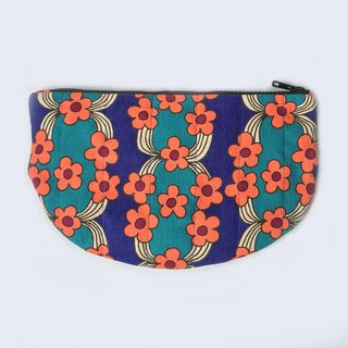 Retro Wallflower Quilted Clutch Purse