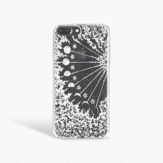 Moon Phase iPhone 7 Case Clear iPhone 8 Case Clear iPhone 7 Plus Clear Case Gift