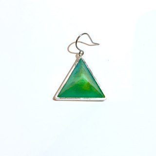 PRISM piercing earring for one ear  silver,green