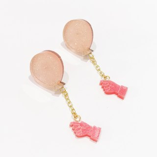Flying flying earrings / earrings - pink