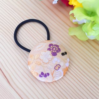 "Hair elastic with Japanese Pattern, Kimono (Large) ""Brocade"""